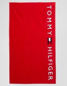 Красное полотенце с логотипом Tommy Hilfiger - Красный