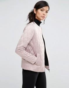 Стеганая куртка без воротника Neon Rose - Розовый
