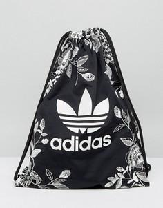 Монохромный рюкзак с цветочным принтом adidas Originals - Мульти