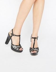 Босоножки на каблуке и платформе Head Over Heels By Dune Mada - Черный