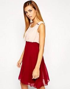 Двухцветное платье Jasmine - Красный