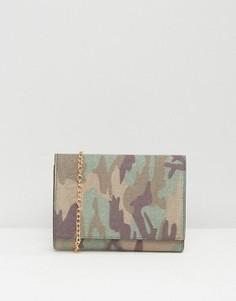Камуфляжный клатч с кисточкой Missguided - Мульти