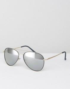 Солнцезащитные очки-авиаторы с серыми стеклами ALDO - Золотой