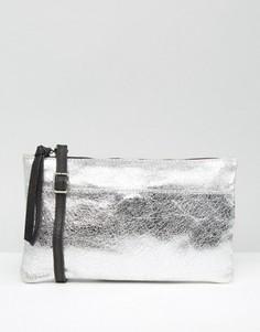 Кожаная сумка через плечо New Look - Серебряный