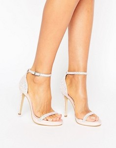 Блестящие босоножки на каблуке Boohoo Bridal - Розовый