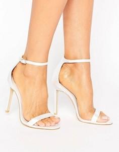 Легкие босоножки на каблуке Boohoo Bridal - Белый