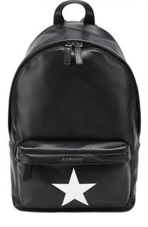 Кожаный рюкзак с логотипом бренда Givenchy