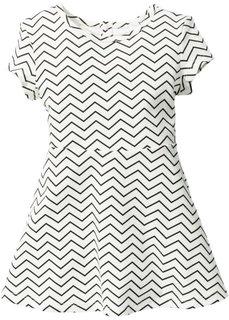 Платье, Размеры  80-134 (цвет белой шерсти/черный с узором) Bonprix