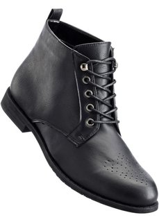 Полусапожки на шнурках (две полноты стопы на выбор), нормальная стопа (черный) Bonprix