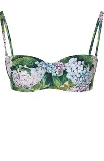 Бра с ярким цветочным принтом Dolce & Gabbana