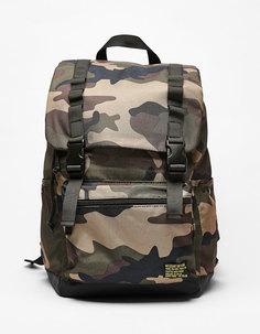 Рюкзак с камуфляжным принтом Bershka