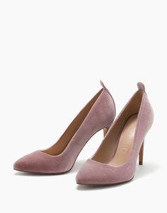 Туфли на шпильке из бархата Bershka