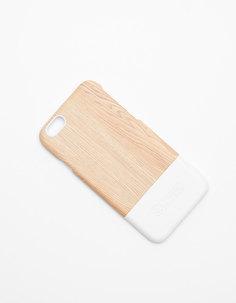 Чехол с принтом под дерево для iphone 6/6s Bershka