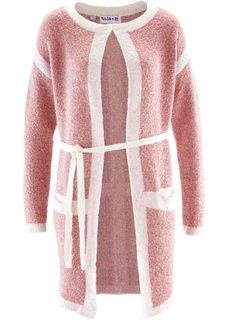 Удлиненный кардиган дизайна Maite Kelly (розовый/кремовый) Bonprix