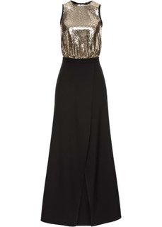 Платье с пайетками Marcell von Berlin for bonprix (черный/золотистый)