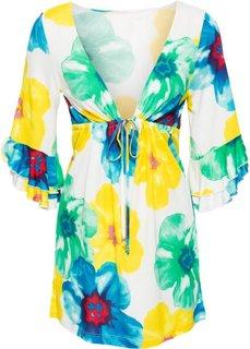 Пляжное платье (белый с рисунком) Bonprix