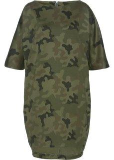 Платье (оливковый с узором) Bonprix