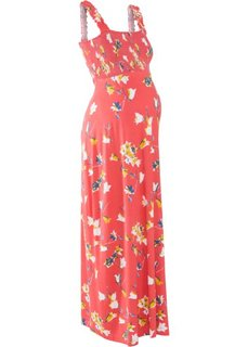 Мода для беременных: макси-платье (коралловый с рисунком) Bonprix