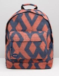 Фетровый рюкзак с узором в ромбик Mi-Pac Premium - Мульти