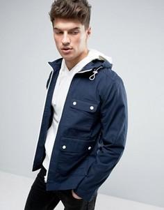 Куртка с капюшоном и контрастной молнией Produkt - Темно-синий