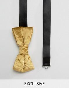 Бархатный галстук-бабочка Noose & Monkey - Золотой