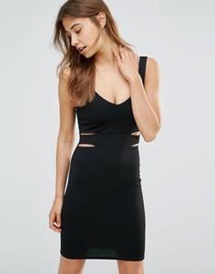 Облегающее платье мини с вырезами Oh My Love - Черный