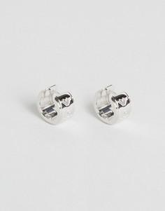 Серебряные серьги-кафы Emporio Armani - Серебряный