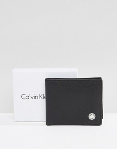 Кожаный бумажник Calvin Klein 8CC - Черный