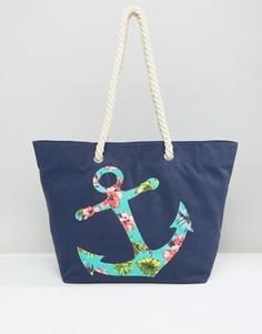 Пляжная сумка с якорем Chateau - Синий