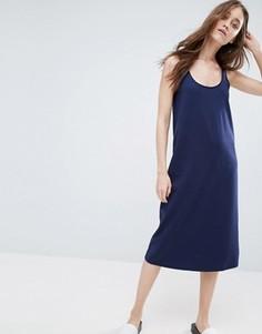 Платье-майка миди ASOS - Темно-синий