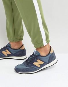 Синие замшевые кроссовки New Balance 420 U420PNT - Синий