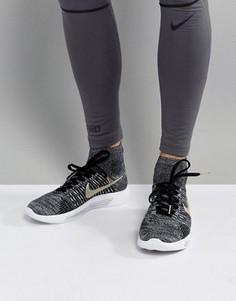 Черные кроссовки Nike Running LunarEpic Flyknit BHM 881681-007 - Черный
