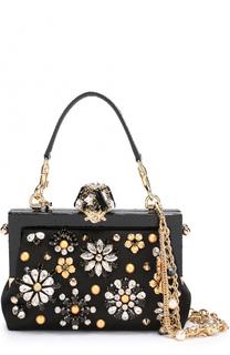 Клатч Vanda с отделкой кристаллами Dolce & Gabbana