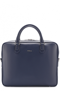 Кожаная сумка для ноутбука с плечевым ремнем Furla