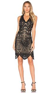 Lace embroidered dress - Bardot