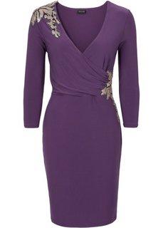 Платье с эффектом запаха (виноградный) Bonprix
