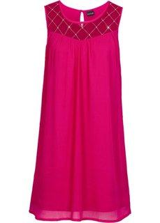 Платье с бусинами (ягодный) Bonprix
