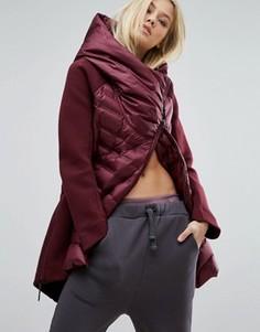 Дутая длинная куртка Nike Aeroloft - Красный