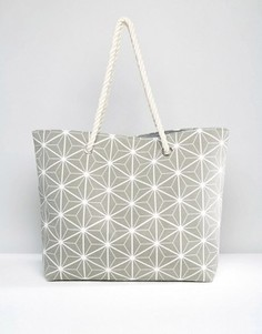 Пляжная сумка с принтом South Beach - Серый