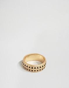 Золотистое кольцо-премиум с отделкой Icon Brand - Золотой