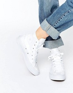 Белые высокие кеды Converse All Star Chuck Taylor Reflective Ox II - Белый