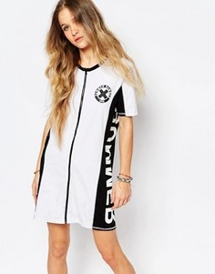 Платье-футболка с молнией спереди Vans Summer Nummer - Белый