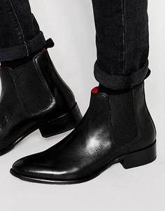 Кожаные ботинки челси Base London Arthur - Черный