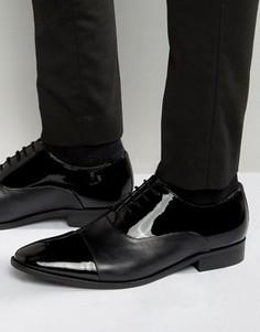 Лакированные оксфордские туфли Dune - Черный