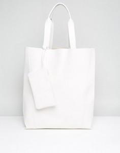 Сумка-шоппер в стиле oversize ASOS - Белый