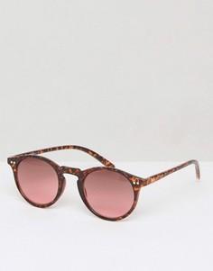 3d063395f3d8 Солнцезащитные очки в круглой черепаховой оправе Jack Wills Brightwell -  Коричневый