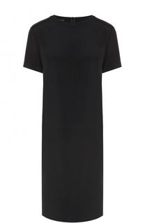 Шелковое платье-миди прямого кроя Escada