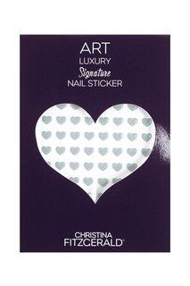 Арт-стикеры для ногтей Art Luxury Signature Nail Sticker «Gray Heart», 96 шт. Christina Fitzgerald