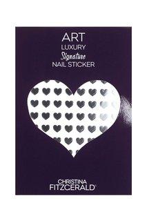 Арт-стикеры для ногтей Art Luxury Signature Nail Sticker «Black Heart», 96 шт. Christina Fitzgerald