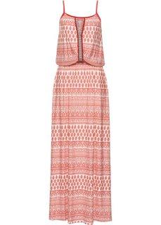 Длинное платье с узором (коралловый с узором) Bonprix